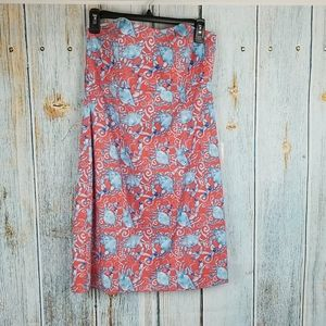 NWT KAELI SMITH ORANGE/ AQUA DRESS